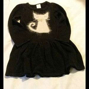 Gymboree. Sweater dress. Cat. Black. Size:3T